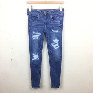 AE Distressed Jegging Skinny Jeans Super Stretch 2